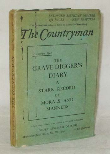 Image for A Grave Digger's Diary  1814-1831 [The Countryman Vol 3 No 1 April 1929]
