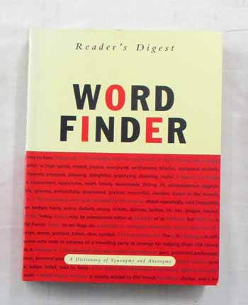 Image for Word Finder Dictionary of Antonyms and Synonyms