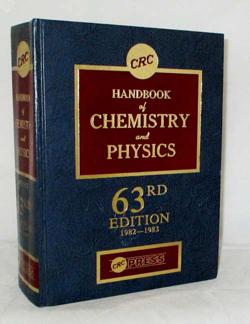 Image for CRC Handbook of Chemistry and Physics A Ready-Reference Book of Chemical and Physical Data.63rd Edition