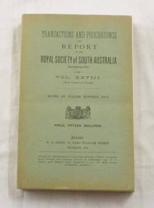 Image for Anthropological Notes made on the South Australian Government North-West Prospecting Expedition, 1903 contained in the Transactions of the Royal Society of South Australia  Volume XXVIII