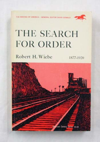 Image for The Search for Order 1877-1920