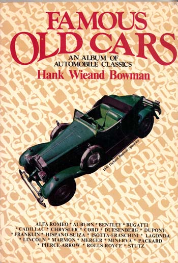 Image for Famous Old Cars (Arco Automobile Library)