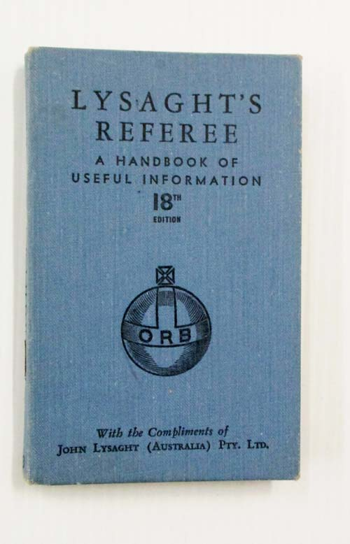 Image for Lysaght's Referee A Handbook of Useful Information